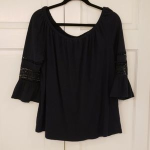 LOFT Bell Sleeve Top - Large
